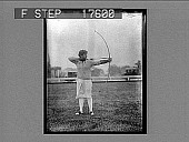 view [Archer aiming bow. Caption no. 1808 : black-and-white photonegative, non-stereo.] digital asset: [Archer aiming bow. Caption no. 1808 : black-and-white photonegative, non-stereo.]