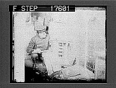 view Damaged safe in west end burglary, Boston; ---- remove staircase step to forestall pursuit. [Cat. No. 1808 : photonegative digital asset: Damaged safe in west end burglary, Boston; ---- remove staircase step to forestall pursuit. [Cat. No. 1808 : photonegative.