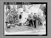 view Concord, Mass.: Captain Arthur W. Morton of British Veterans' Association, placing wreath at foot of statue erected in memory of Minutemen at Old North Bridge, in celebration of 150th anniversary of beginning of War of Indnependence.. British and Ameri... digital asset: Concord, Mass.: Captain Arthur W. Morton of British Veterans' Association, placing wreath at foot of statue erected in memory of Minutemen at Old North Bridge, in celebration of 150th anniversary of beginning of War of Indnependence.. British and American flags flew side by side. 5/25/26. 1927 Photonegative 1926.