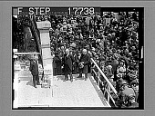 view The cornerstone of the new headquarters of the American Unitarian Association laid. [High view of cornerstone ceremony, with crowd.] [photonegative] digital asset: The cornerstone of the new headquarters of the American Unitarian Association laid. [High view of cornerstone ceremony, with crowd.] [photonegative], 05/26/26.