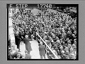 view Boston, Mass.: The cornerstone of the new headquarters of the American Unitarian Association was laid ath 32 Beacon Street, yesterday. 5/26/26. [High view of cornerstone ceremony, with crowd.] 1938 photonegative digital asset: Boston, Mass.: The cornerstone of the new headquarters of the American Unitarian Association was laid ath 32 Beacon Street, yesterday. 5/26/26. [High view of cornerstone ceremony, with crowd.] 1938 photonegative 1926.