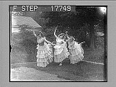 view [Three dancers outside.] 1948 photonegative digital asset: [Three dancers outside.] 1948 photonegative.