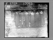 view [Six college coeds pose in graduation gowns. Active no. 1951 : photonegative.] digital asset: [Six college coeds pose in graduation gowns. Active no. 1951 : photonegative.]