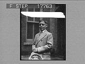 view Boy of 11 to try 40-mile hike. [photonegative] digital asset: Boy of 11 to try 40-mile hike. [photonegative], 50/29/26.