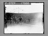 view [Fiftieth; finish of foot race in crowded stadium.] 1985 photonegative digital asset: [Fiftieth; finish of foot race in crowded stadium.] 1985 photonegative 1926.