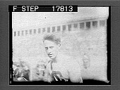 view [Fiftieth; close-up of track athlete in crowded stadium.] 1987 photonegative digital asset: [Fiftieth; close-up of track athlete in crowded stadium.] 1987 photonegative 1926.