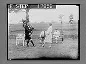 view Golf pro gives Scotch version of the sword dance - [photonegative] digital asset: Golf pro gives Scotch version of the sword dance - [photonegative], 1926.