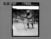 view [Model on skis outdoors on snow.] 1238 photonegative digital asset: [Model on skis outdoors on snow.] 1238 photonegative 1926.