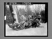 view [Snow scene], caption no. 1240 : photonegative digital asset: [Snow scene], caption no. 1240 : photonegative, 1926.
