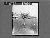 view [Football player kicking ball. Caption no. 10075 : photonegative.] digital asset: [Football player kicking ball. Caption no. 10075 : photonegative.]