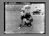 view [Football player, caption no. 10076 : photonegative.] digital asset: [Football player, caption no. 10076 : photonegative.]