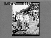 view [Two golfers in knickers outdoors.] 10095 photonegative digital asset: [Two golfers in knickers outdoors.] 10095 photonegative.