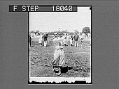 view [Golfer in knickers outdoors.] 10096 photonegative digital asset: [Golfer in knickers outdoors.] 10096 photonegative.