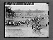 view [Overview of golf course green and crowd.] 10118 photonegative digital asset: [Overview of golf course green and crowd.] 10118 photonegative.