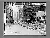 view [City street scene.] 10148 photonegative digital asset: [City street scene.] 10148 photonegative.