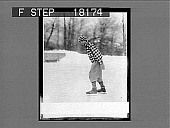 view [Ice skater outdoors.] 1258 photonegative digital asset: [Ice skater outdoors.] 1258 photonegative 1926.