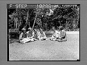 view [Ornithology students seated outdoors on Long Island, New York.] 10006 photonegative digital asset: [Ornithology students seated outdoors on Long Island, New York.] 10006 photonegative.