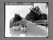 view [West Point cadets and band marching outdoors. Caption 10013A-1 : photonegative,] digital asset: [West Point cadets and band marching outdoors. Caption 10013A-1 : photonegative,] 1929.