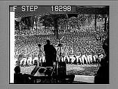 view [West Point graduation ceremonies, viewed from behind speaker.] 10017 Photonegative digital asset: [West Point graduation ceremonies, viewed from behind speaker.] 10017 Photonegative 1929.