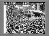 view [West Point graduation ceremonies; overview from rear.] Photonegative digital asset: [West Point graduation ceremonies; overview from rear.] Photonegative 1929.
