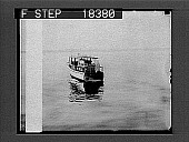 view [Small motorboat on river.] 10054 Photonegative digital asset number 1