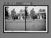 view Indian Prince doing homage to his Sovereign Queen--showing King Edward, Earl Roberts and Lord Kitchener--Buckingham Palace. [Active no. 273 : stereo interpositive,] digital asset: Indian Prince doing homage to his Sovereign Queen--showing King Edward, Earl Roberts and Lord Kitchener--Buckingham Palace. [Active no. 273 : stereo interpositive,] 1902.