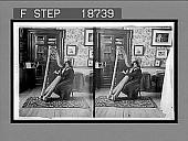 view An Irish maiden and a modern harp, in a home in Dublin. 499 Interpositive digital asset: An Irish maiden and a modern harp, in a home in Dublin. 499 Interpositive 1905.