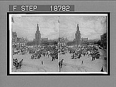 """view The """" Great Market: around statue of Christian IV--east to Church of Our Saviour, Christiania. 605 Interpositive digital asset: The """" Great Market: around statue of Christian IV--east to Church of Our Saviour, Christiania. 605 Interpositive 1906."""