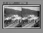 "view Halt of a stolkjaerre on the Telemarken road beside the foaming ""Little Rjukan Falls."" 626 interpositive digital asset: Halt of a stolkjaerre on the Telemarken road beside the foaming ""Little Rjukan Falls."" 626 interpositive 1905."