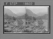 view A log-built mill and a water-wheel grindstone, on Stalheim's river, Naerodal. 654 interpositive digital asset: A log-built mill and a water-wheel grindstone, on Stalheim's river, Naerodal. 654 interpositive 1905.
