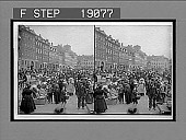 view Live fish market and its throngs of buyers on the Gammelstrand, Copenhagen. 1003 Interpositive digital asset: Live fish market and its throngs of buyers on the Gammelstrand, Copenhagen. 1003 Interpositive 1905.