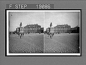 view Stately palace of good King Christian IX and bronze statue of Frederick V, Copenhagen. 1014 interpositive digital asset: Stately palace of good King Christian IX and bronze statue of Frederick V, Copenhagen. 1014 interpositive 1905.
