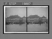 view Royal Guards parading past the Crown Prince's palace (seen from the King's Palace), Copenhagen. 1015 Interpositive digital asset: Royal Guards parading past the Crown Prince's palace (seen from the King's Palace), Copenhagen. 1015 Interpositive 1905