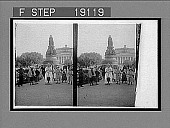 view Monument of Catherina II and Alexander Theatre, St. Petersburg. [Active no. 1055 : stereo interpositive.] digital asset: Monument of Catherina II and Alexander Theatre, St. Petersburg. [Active no. 1055 : stereo interpositive.]