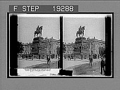 view Noble statue of Frederick the Great--E. end Unter den Linden opp. Academy Bldg, Berlin. Active no. 1301 : stereo interpositive digital asset: Noble statue of Frederick the Great--E. end Unter den Linden opp. Academy Bldg, Berlin. Active no. 1301 : stereo interpositive, 1903.