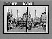 view East from quay Van Dyck along busy street to the stately CAthedral, Antwerp. 1483 Interpositive digital asset: East from quay Van Dyck along busy street to the stately CAthedral, Antwerp. 1483 Interpositive 1905.