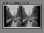 view In Amsterdam, the Venice of the North--over tree-lined canal north to Zuider Kerk. 1504 Interpositive digital asset: In Amsterdam, the Venice of the North--over tree-lined canal north to Zuider Kerk. 1504 Interpositive.