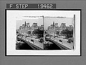 view The Hotel de Ville (City Hall) and d'Arcola Bridge, Paris. [Active no. 1567 : stereo interpositive,] digital asset: The Hotel de Ville (City Hall) and d'Arcola Bridge, Paris. [Active no. 1567 : stereo interpositive,] 1905.
