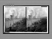view Coke ovens near Altoona--filling with soft coal from overhead--opening and sealing doors. 5533 interpositive digital asset: Coke ovens near Altoona--filling with soft coal from overhead--opening and sealing doors. 5533 interpositive.
