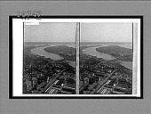 view From Washington Monument, south along the wharves and the Potomac River. 5582 interpositive digital asset: From Washington Monument, south along the wharves and the Potomac River. 5582 interpositive.