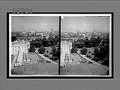 view From Navy Department (S.E.) past the White House and Treasury to the Capitol. [Active no. 5605 : black-and-white stereo interpositive,] digital asset: From Navy Department (S.E.) past the White House and Treasury to the Capitol. [Active no. 5605 : black-and-white stereo interpositive,] 1908.