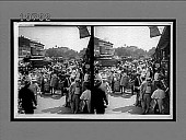 view Fruits of the Sunny South and their buyers, in famous old Centre Market. [Caption No. 5608 : stereoscopic interpositive] digital asset: Fruits of the Sunny South and their buyers, in famous old Centre Market. [Caption No. 5608 : stereoscopic interpositive, ca. 1900.]