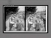 """view """"Fruits of the Sunny South and their buyers, in famous old Centre Market."""" Caption No. 5608 : stereoscopic interpositive digital asset: """"Fruits of the Sunny South and their buyers, in famous old Centre Market."""" Caption No. 5608 : stereoscopic interpositive, ca. 1900."""