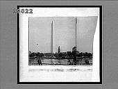 view Washington Monument (555 feet high) from (N.W.) across one of the Fish Ponds. Caption no. 5634 : stereoscopic interpositive digital asset: Washington Monument (555 feet high) from (N.W.) across one of the Fish Ponds. Caption no. 5634 : stereoscopic interpositive.