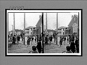 view Acrobats far from their mountain home--grizzly bears in a street at Jacksonville. [Active no. 5723 : stereo interpositive.] digital asset: Acrobats far from their mountain home--grizzly bears in a street at Jacksonville. [Active no. 5723 : stereo interpositive.]
