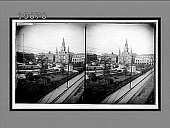 view Cathedral of St. Louis and old Spanish Council House (at left), Jackson Square, New Orleans, La. 5747 Interpositive digital asset: Cathedral of St. Louis and old Spanish Council House (at left), Jackson Square, New Orleans, La. 5747 Interpositive.