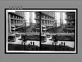 view [Streetcars in city.] interpositive digital asset: [Streetcars in city.] interpositive.