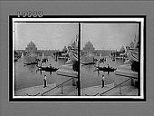 view Venice in America--picturesque gondolas in the Basin before Festival Hall. [Active no. 5819 : stereo interpositive,] digital asset: Venice in America--picturesque gondolas in the Basin before Festival Hall. [Active no. 5819 : stereo interpositive,] 1903.