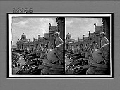 view Colonade [colonnade] of colossal statues symbolic of the Louisiana Purchase States. [Active no. 5824 : stereo interpositive,] digital asset: Colonade [colonnade] of colossal statues symbolic of the Louisiana Purchase States. [Active no. 5824 : stereo interpositive,] 1903.