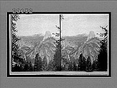 view From Glacier Canyon (N.E.) over Half Dome and Clouds' Rest, showing Vernal Falls. 6059 Interpositive digital asset: From Glacier Canyon (N.E.) over Half Dome and Clouds' Rest, showing Vernal Falls. 6059 Interpositive.